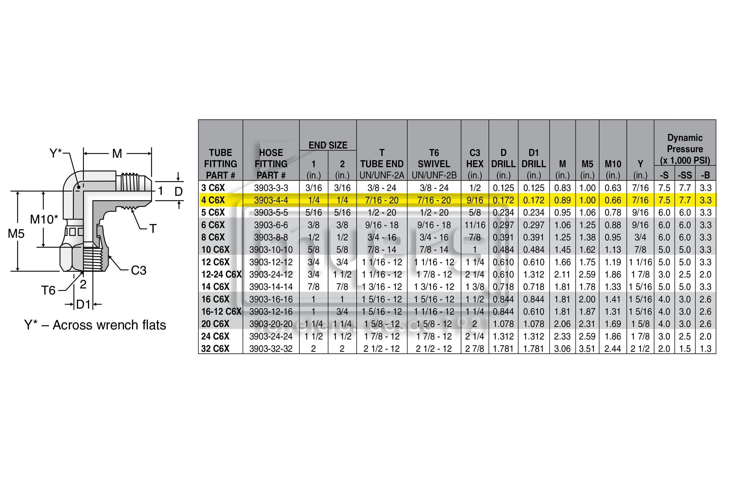 4 C6X-S CODO 90~ TUERCA GIRA(3903-4-4) 4 C6X-S   CODO   Ferreteria ...