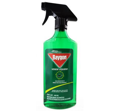 Baygon verde liquido trigger 480ml 609121 insecticidas - Mata cucarachas electrico ...